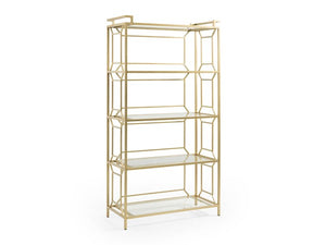 Brass Etagere Bookcase - Wilson Lee