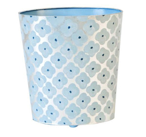 Blue Wastebasket and Tissue Box Cover - Wilson Lee