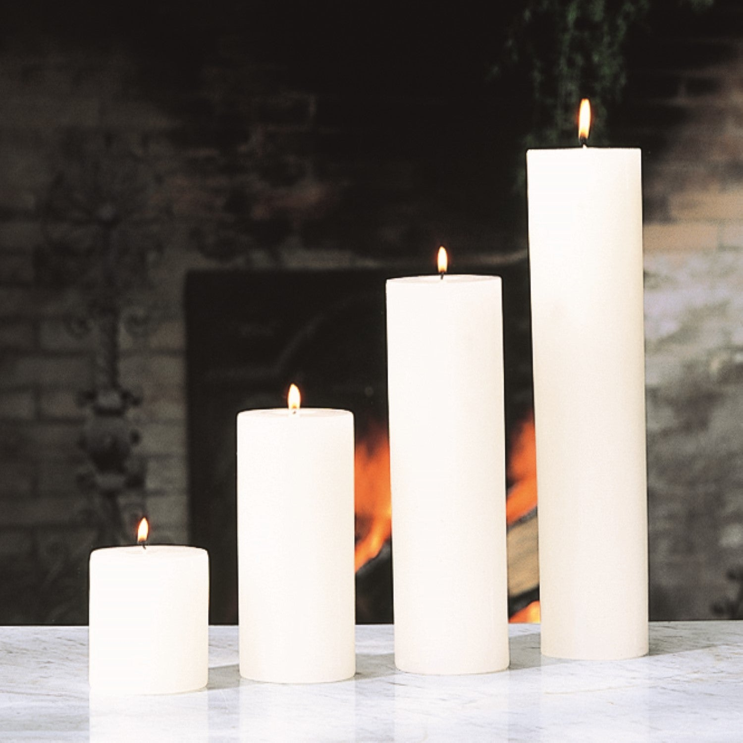 "Unscented - Pillar candle 4"" - Wilson Lee"