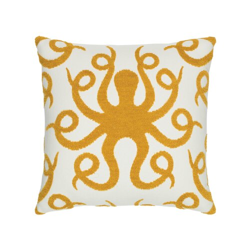 Octopus Outdoor Throw Pillow - Wilson Lee