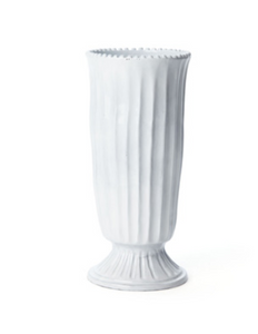 Incanto White Stirpped Footed Vase - Wilson Lee