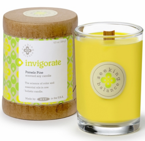 Invigorate Pomela Pine soy & essential oil infused candle (6.5oz) - Wilson Lee