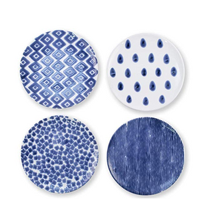 Santorini Assorted Salad Plates (Set of 4) - Wilson Lee