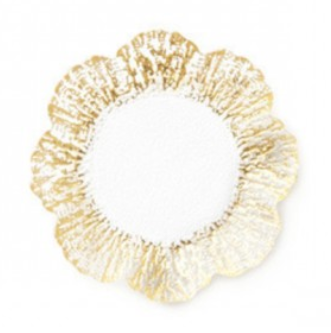 Rufolo Glass Gold Salad Plate - Wilson Lee