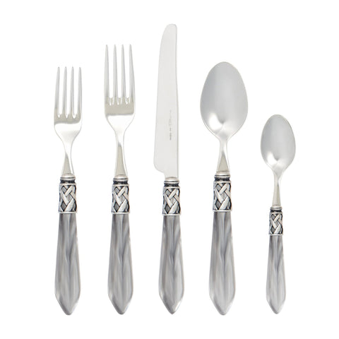 Antique Light Gray 5-Piece Place Setting - Wilson Lee