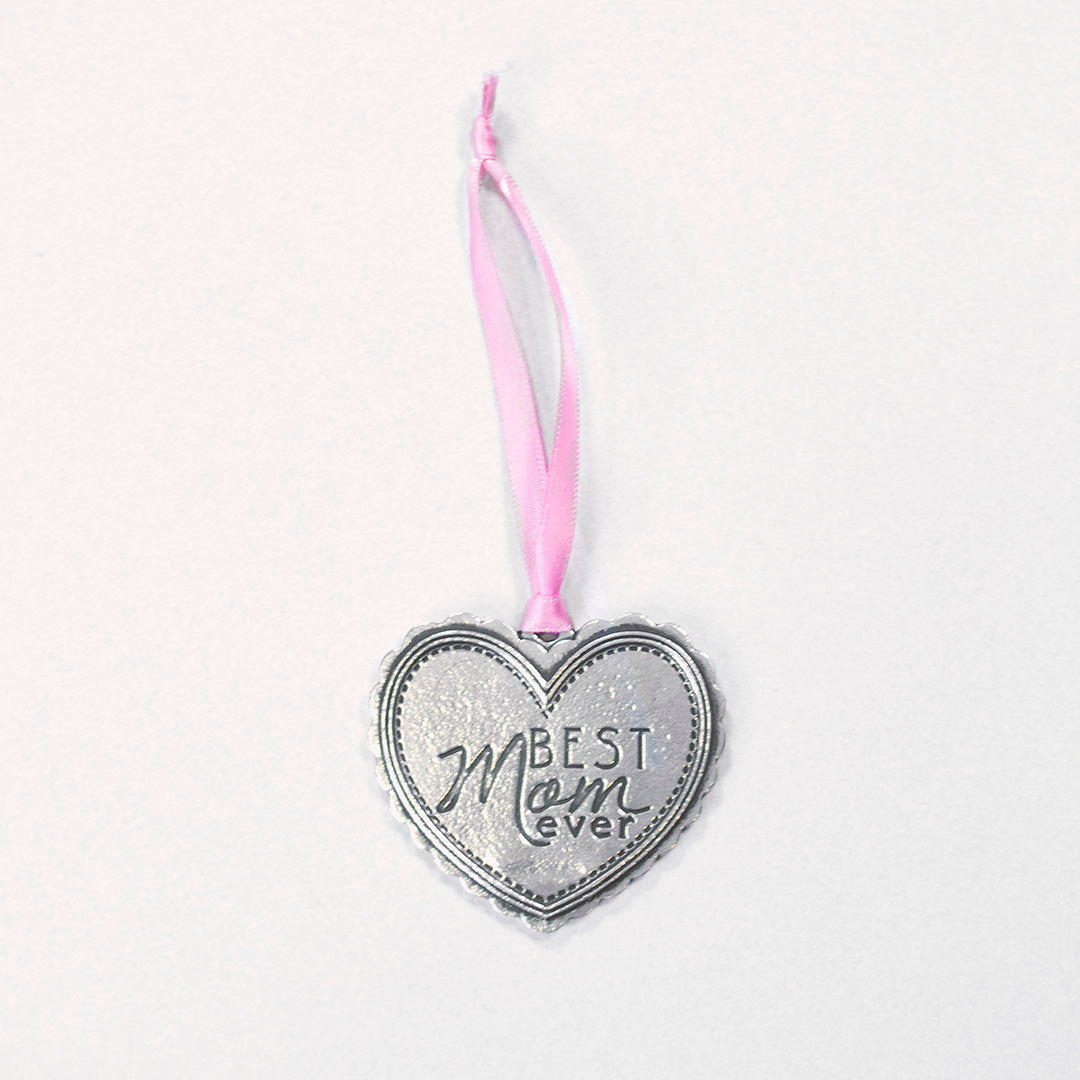 """Best Mom Ever"" Silver Ornament - Wilson Lee"