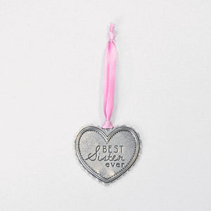 """Best Sister Ever"" Silver Ornament - Wilson Lee"