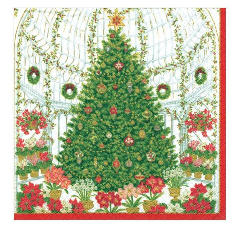 Christmas At The Garden Cocktail Napkin (40 Pack) - Wilson Lee