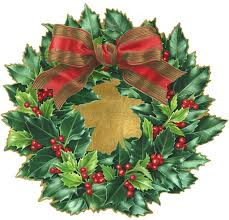 Christmas Wreath Die-Cut Placemat (Set of 4) - Wilson Lee