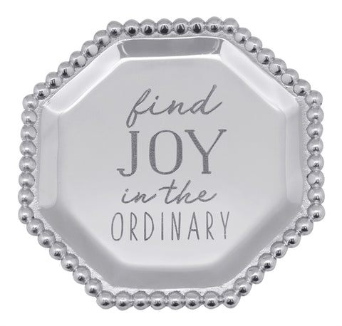 """Find Joy in the Ordinary"" Octagonal Canape Plate - Wilson Lee"