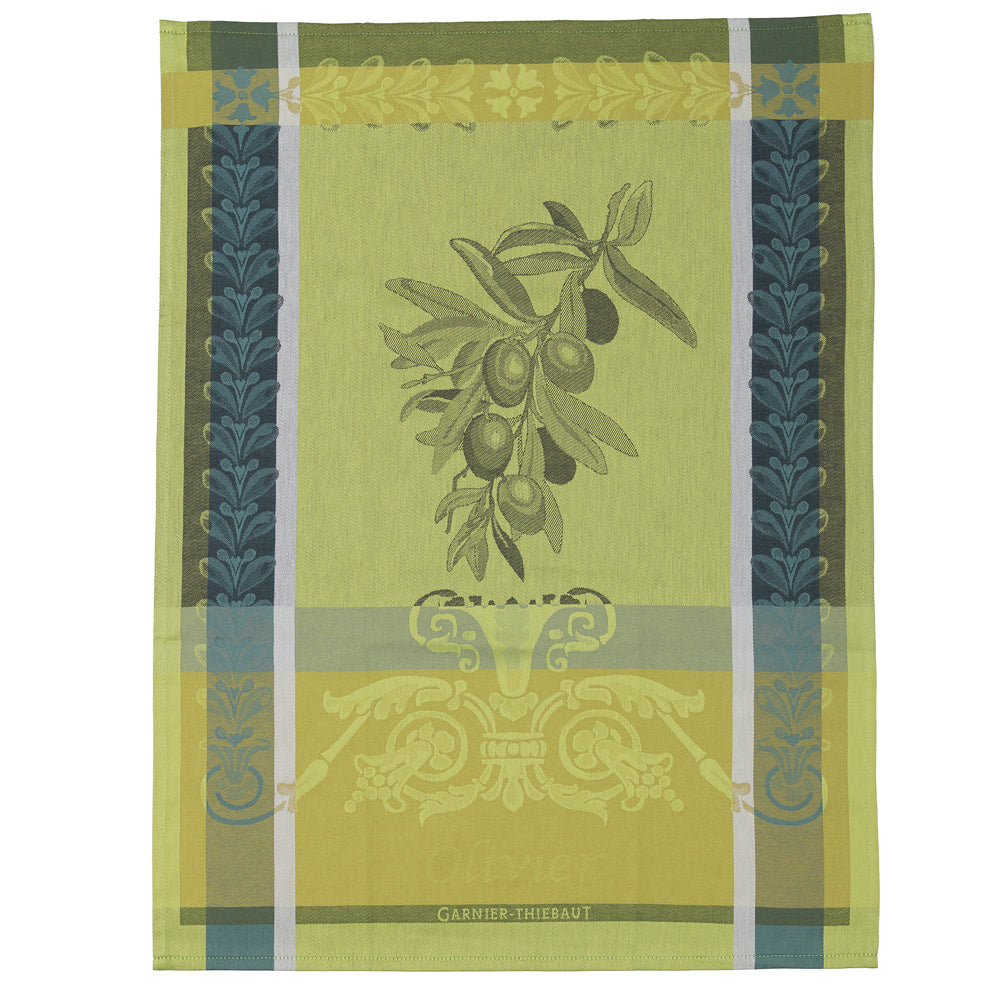 Olive Branch Tea Towel in Olive - Wilson Lee