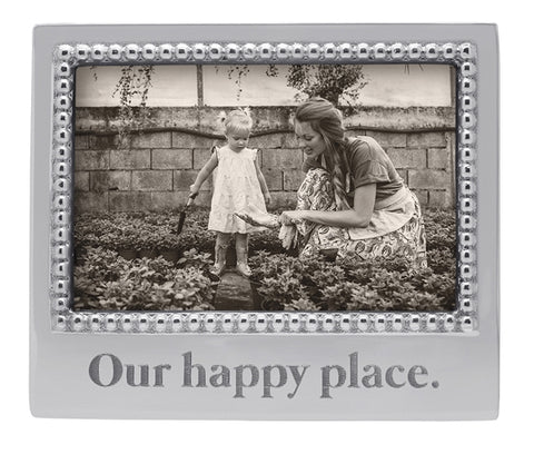 """Our Happy Place"" 4x6 Frame - Wilson Lee"
