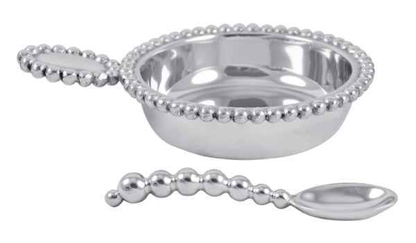 Pearled Baby Porringer & Spoon - Wilson Lee