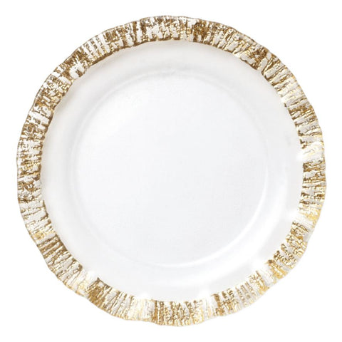 Rufolo Glass Gold Service Plate/Charger - Wilson Lee