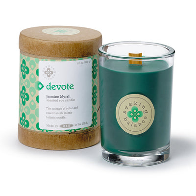 Devote Jasmine Myrrh Scented Soy & Essential Oil Candle (6.5oz) - Wilson Lee