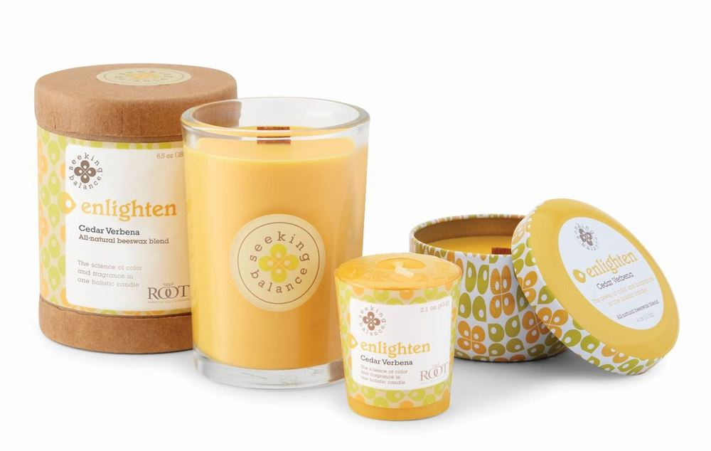 Enlighten Cedar Verbena Scented Beeswax & Essential Oil Candle (6.5oz) - Wilson Lee