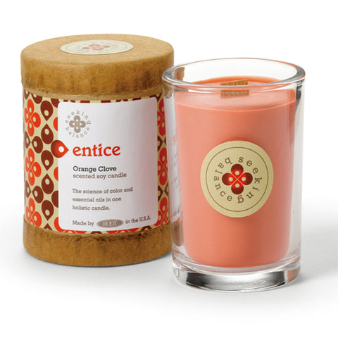 Entice Orange Clove Scented Soy & Essential Oil Candle (6.5oz) - Wilson Lee