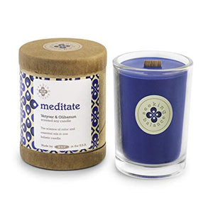 Meditate Vetyver & Olibanum Scented Soy & Essential Oil Candle (6.5oz) - Wilson Lee