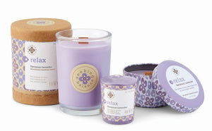 Relax Geranium Lavender Scented Beeswax & Essential Oil Candle (6.5oz) - Wilson Lee