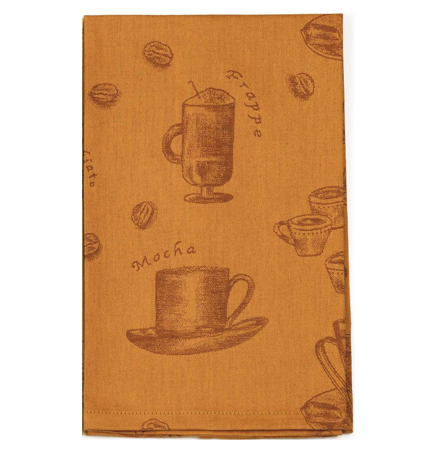 Café Organic Tea Towel in Sienna - Wilson Lee