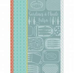Sardine Altitude Turquoise Kitchen Towel - Wilson Lee