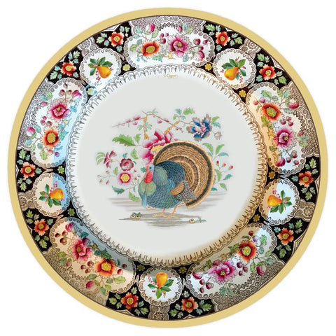 Thanksgiving Setting 8 Salad - Dessert Plates - Wilson Lee