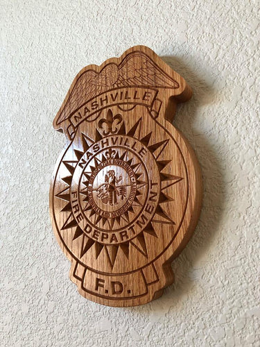 Wooden Firefighter Shield: Small 10