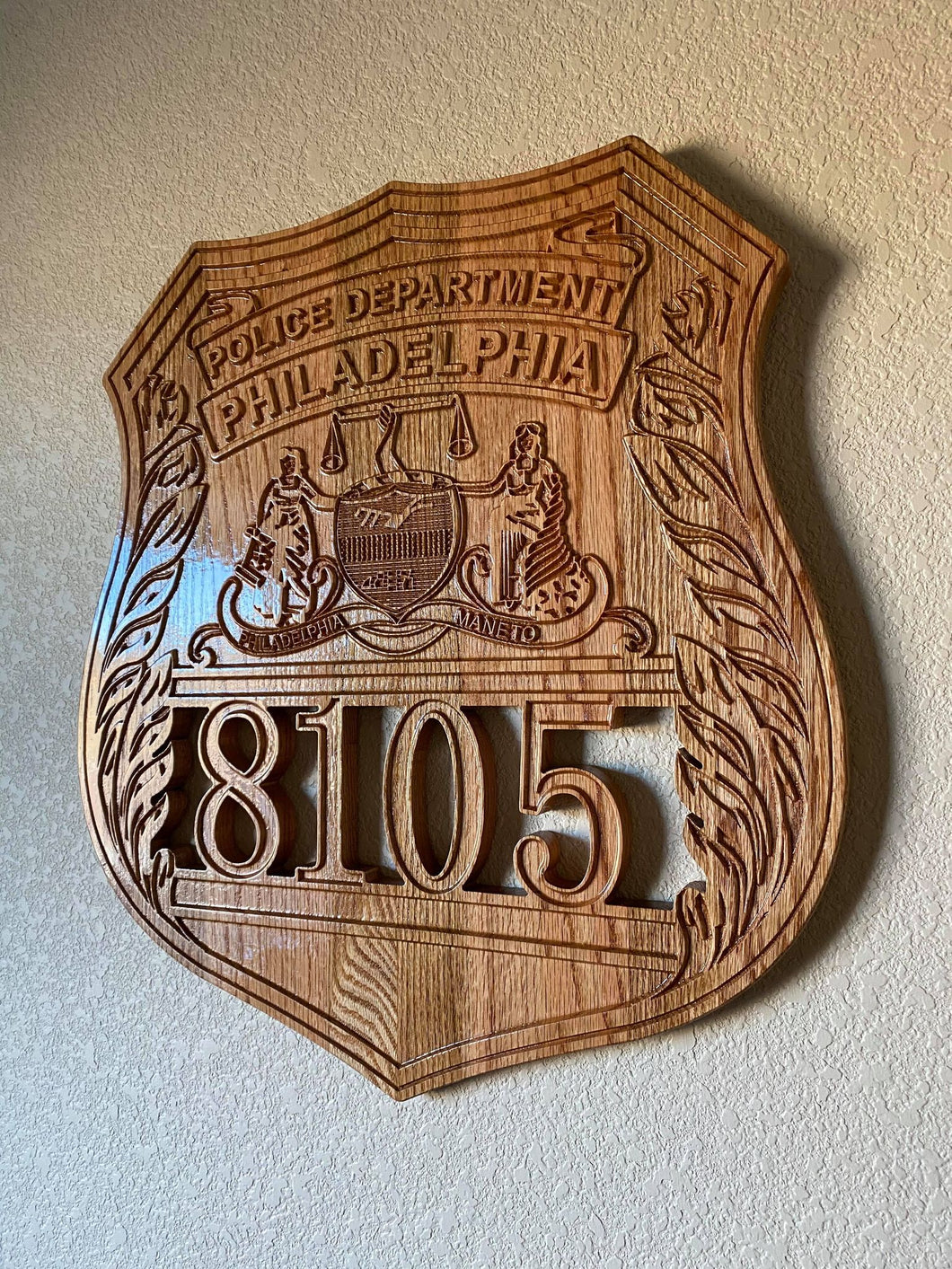 Wooden Police Shield: Large 24