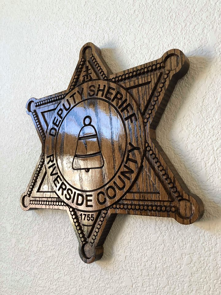 Wooden Police Shield: Small 10
