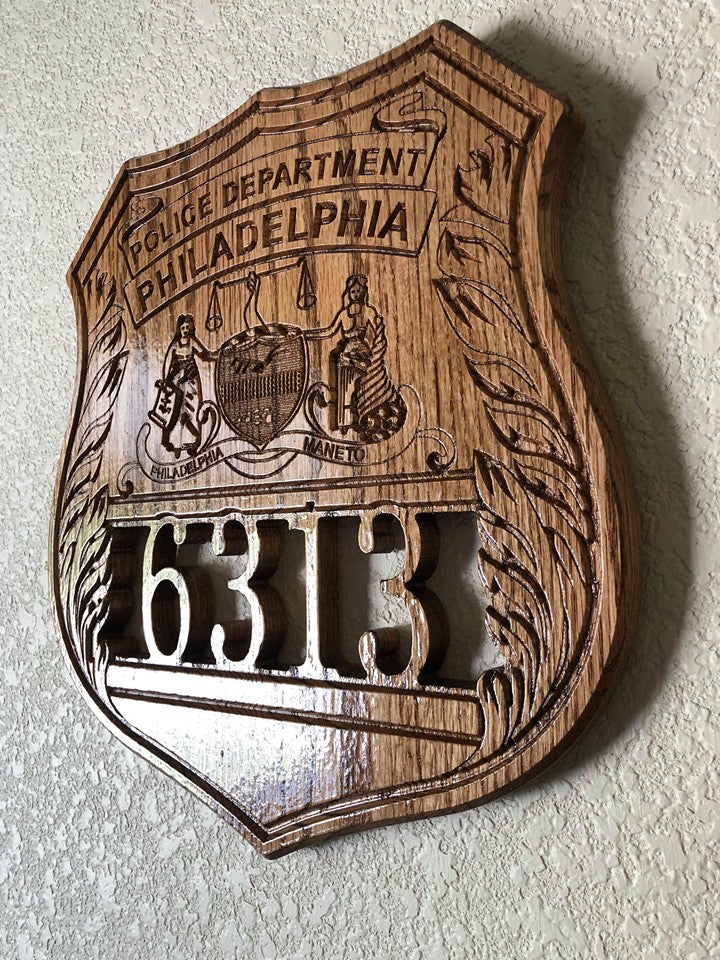 Wooden Police Shield: Medium 14