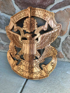 "Wooden Police Shield: Large 24""x22""x3/4"""