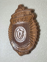"Load image into Gallery viewer, Wooden Police Shield: Large 24""x22""x3/4"""