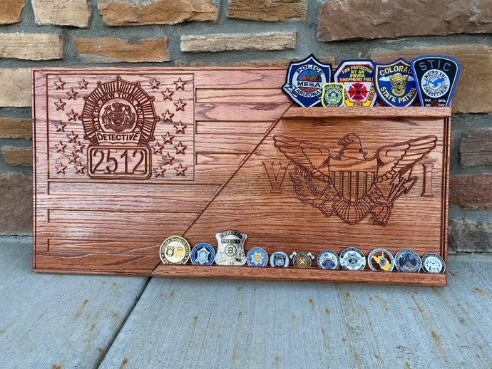 Large Custom Coin Display (holds 15 coins)