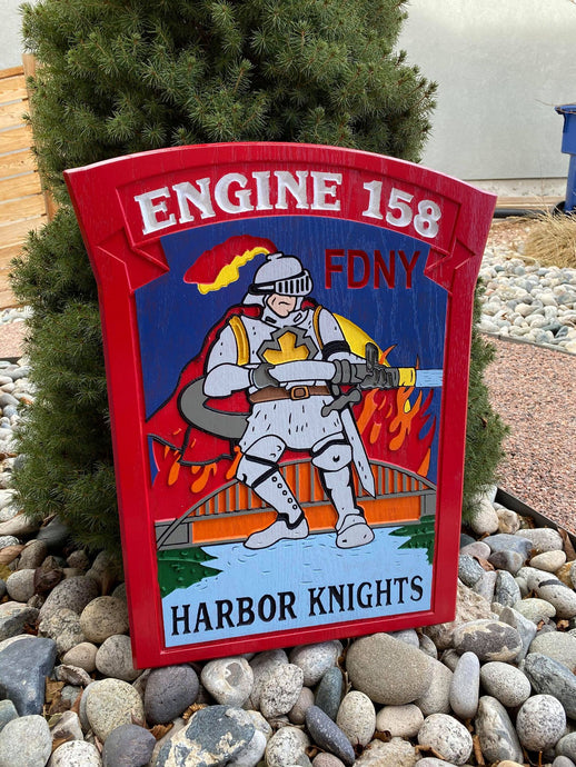 Wooden Firefighter Shield: Large 24