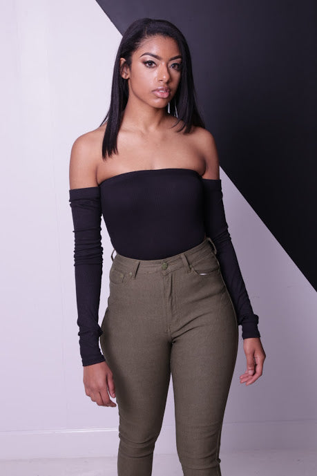 High Rise Bodysuit - Onyx Street Boutique
