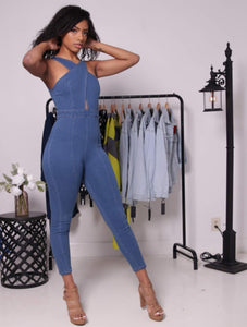Denim Jumpsuit - Onyx Street Boutique