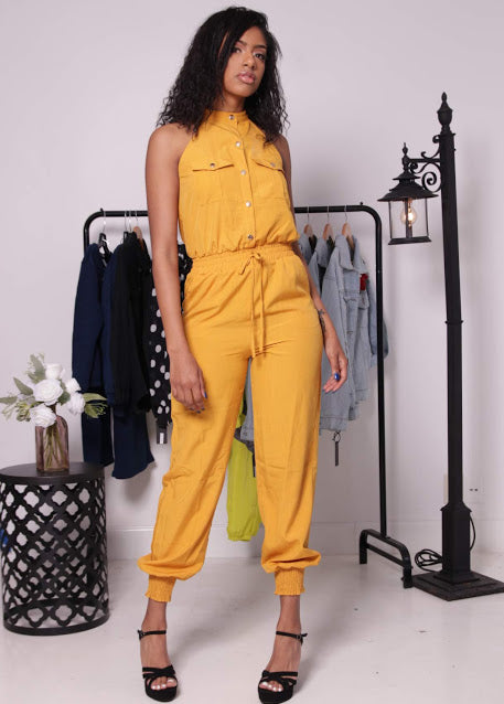 Olivia Mustard Utility Jumpsuit - Onyx Street Boutique