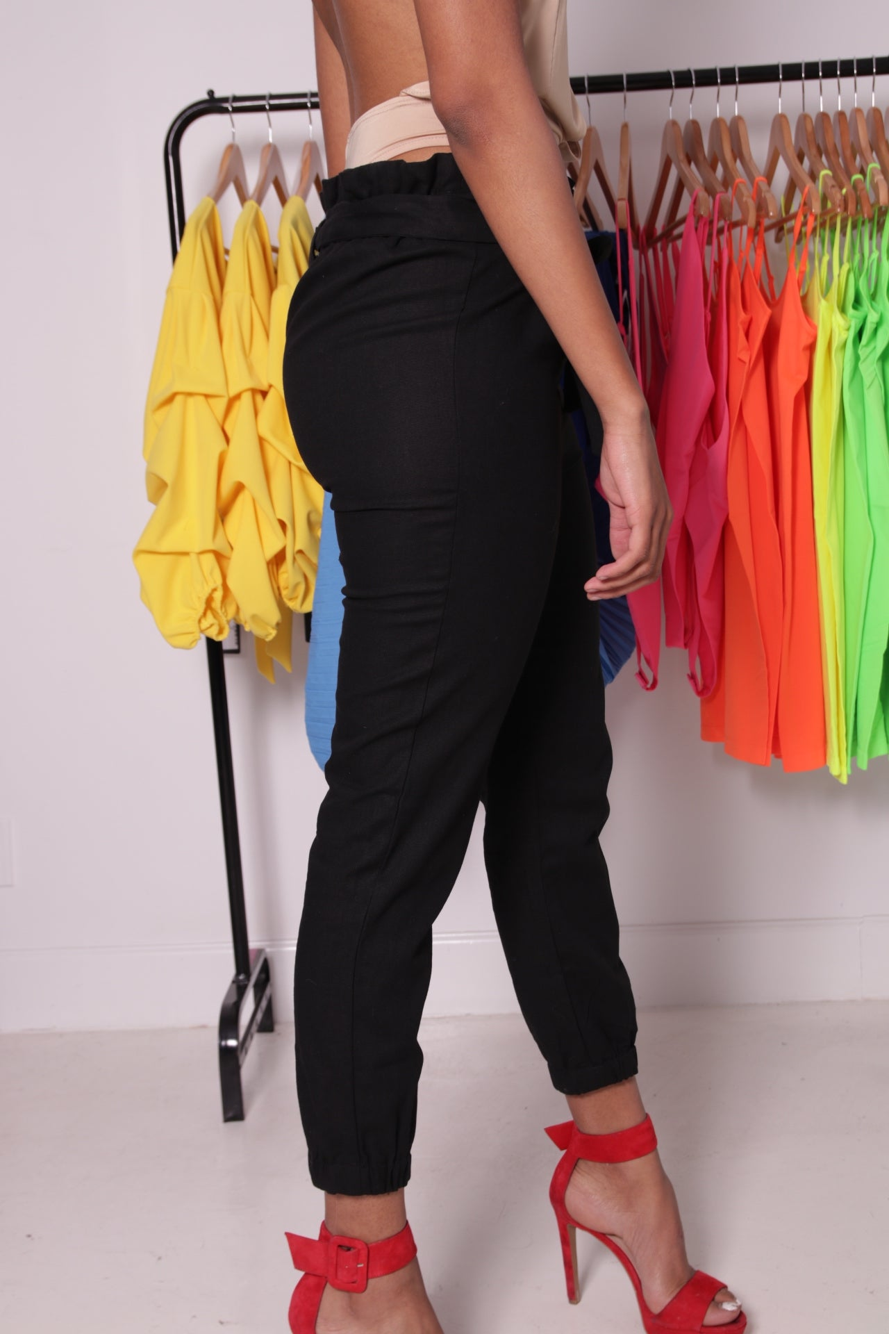 Paperbag Pants - Onyx Street Boutique
