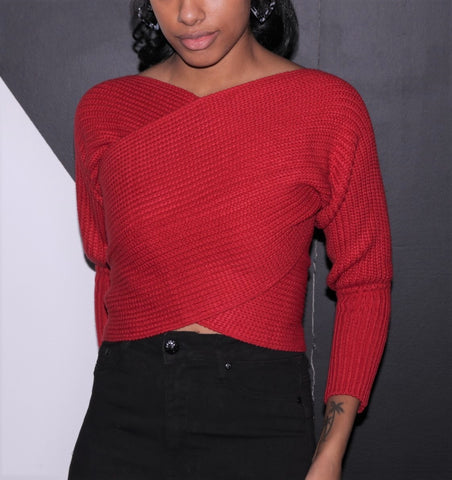 Wrap Sweater - Red
