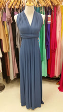 Load image into Gallery viewer, On Sale Blue Moon Wedding Bridesmaid Formal Convertible Wrap Multi-way Maxi Dress Lucy and Loo Style and Scents