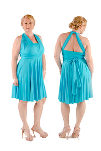 Aqua On Sale Wedding Bridesmaid Cocktail Convertible Wrap Multi-way Dress Lucy and Loo Style and Scents