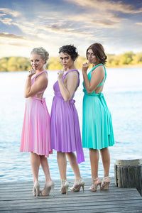 On Sale Wedding Bridesmaid Cocktail Convertible Wrap Multi-way Dress Lucy and Loo Style and Scents