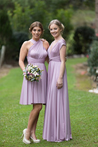 Lilac Light Purple On Sale Wedding Bridesmaid Cocktail Convertible Wrap Multi-way Dress Lucy and Loo Style and Scents