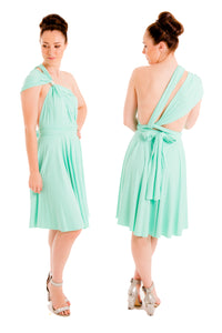Tiffany Green On Sale Wedding Bridesmaid Cocktail Convertible Wrap Multi-way Dress Lucy and Loo Style and Scents