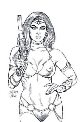 DEJAH THORIS (2019) #12 40 COPY LINSNER B&W VIRGIN INCV