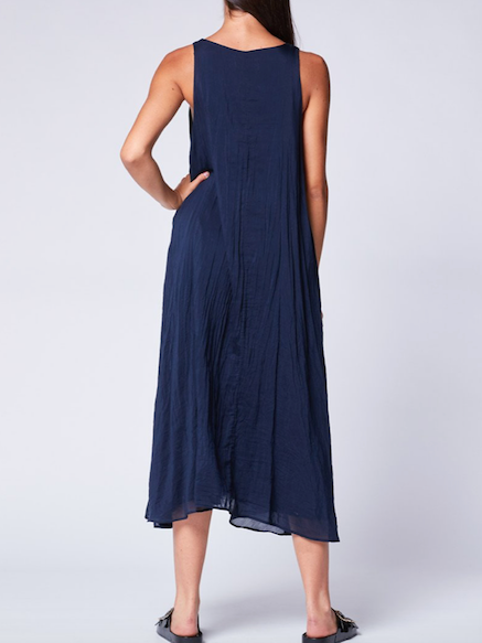 BACI V-NECK DRESS - StudioRA Boutique