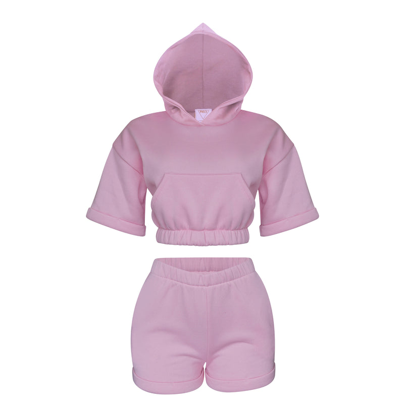 Playsuit II Set In Baby Pink [PRE-ORDER]