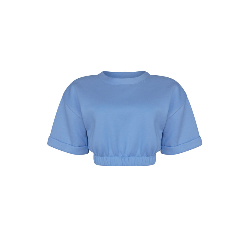 Playsuit Top In Baby Blue [PRE-ORDER]