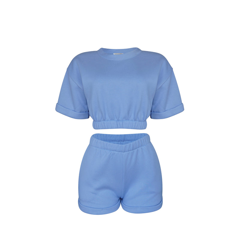 Playsuit Short In Baby Blue [PRE-ORDER]