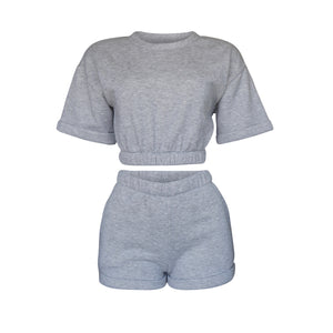 Playsuit Short In Heather Gray [PRE-ORDER]